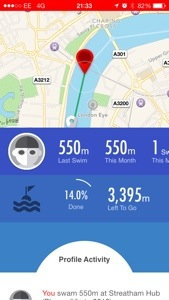 20140323 215555 Swimming with the Get Speedo Fit App